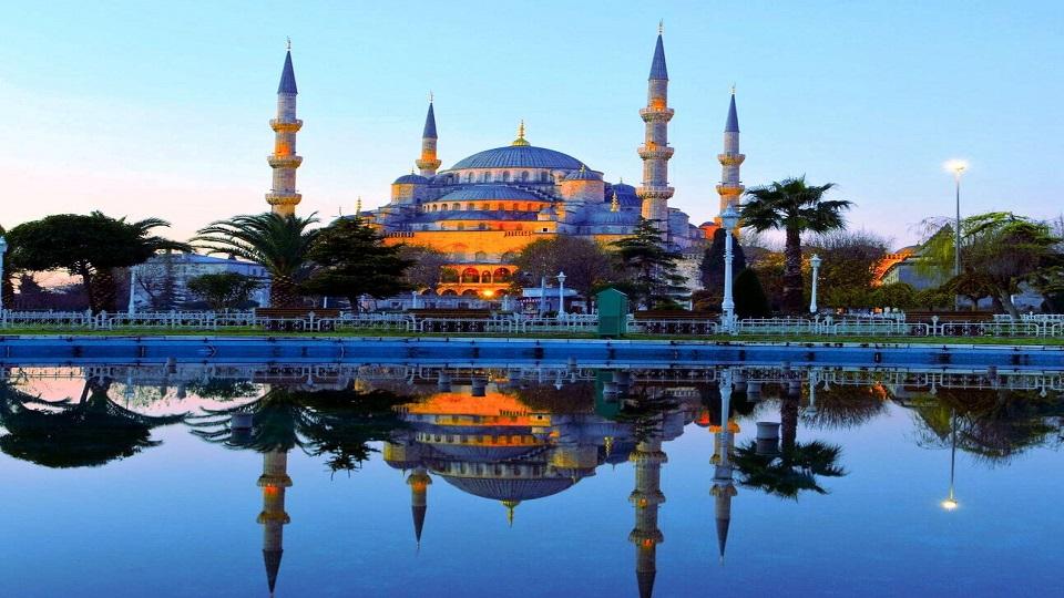 نمایی شگفت انگیز از مسجد در ترکیه