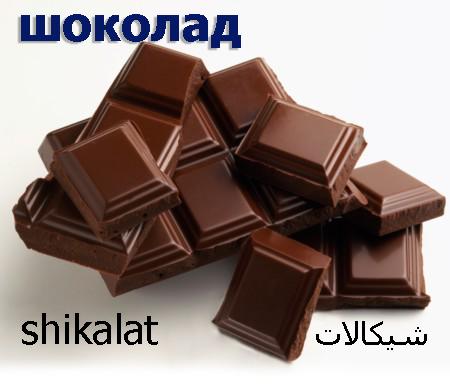 کلمات کاربردی در رستوران (شکلات)