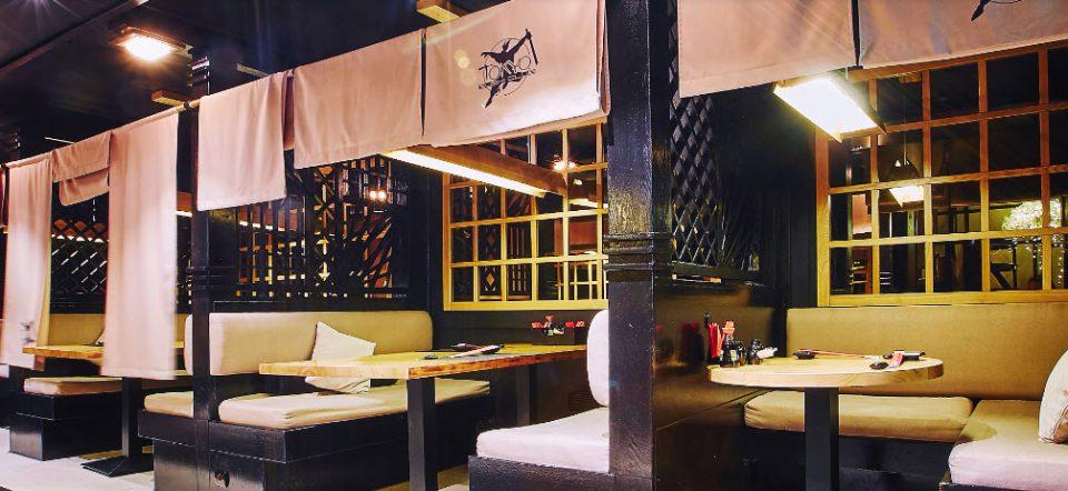 محیط رستوران بار سوشی توکیو