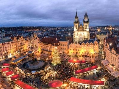 نمای شهر در کریسمس