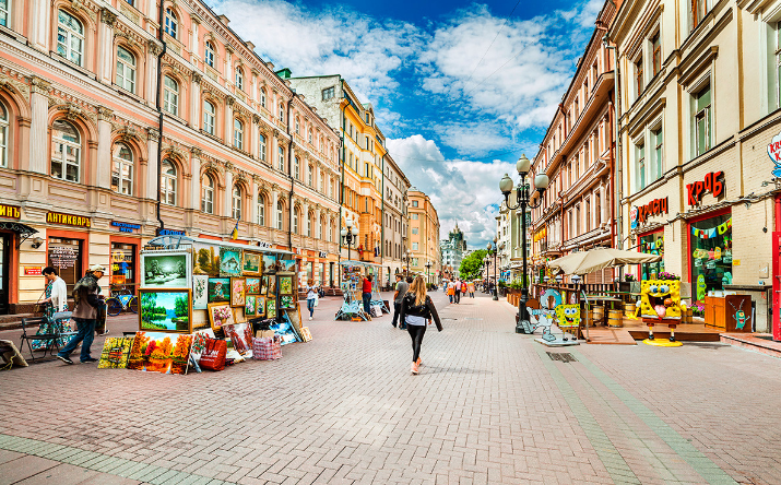 محله آربات در مسکو