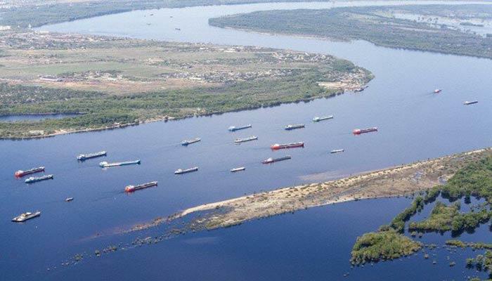 کشتیرانی در رودخانه ولگا